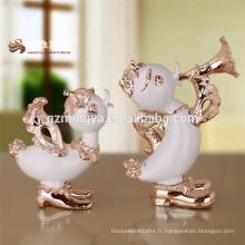 Vente chaude de haute qualité résine figurines de canard résine décoration de bureau résine sculpture