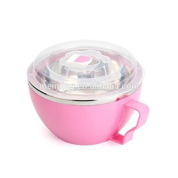Bol en acier inoxydable avec couvercle transparent, pré-conteneurs de repas, bol de mélange