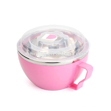 Stainless Steel Bowl With Transparent Lid, Meal Pre Containers, Mixing Bowl