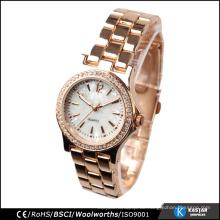 Diamant-Dame-Luxuxuhr kundenspezifisches Firmenzeichen, Quarzbewegung für Uhren sl68