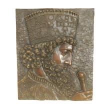 Рельеф Латунь статуя короля рельеф-Деко бронзовая скульптура Т-971 / 971b