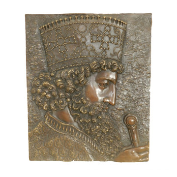 Relief Brass Statue King Relievo Deco Bronze Sculpture Tpy-971 / 971b
