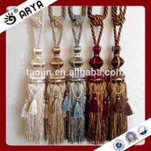 Handgefertigte und schöne Phantasie Vorhang Perlen Tassel Tieback mit kleinen Quaste um sie herum für Vorhänge