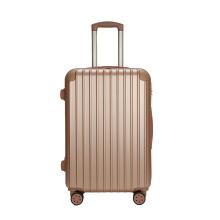 Maleta de bagagem rosa ABS dourada