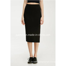 Fashion Slit MIDI Reinvented Elasticized Waist Pencil Skirt
