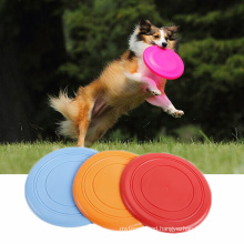 Soft Hot Silicone Outdoor Pet Training Frisbee Custom For Dog