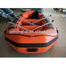 PVC rafting botes de remos de barco de pesca de barco