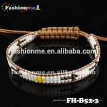 Guangzhou artesanal 1 costa semente grânulo envoltório braceletes