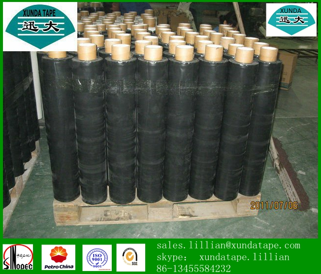 Pipeline corrosion prevention tape with butyl rubber