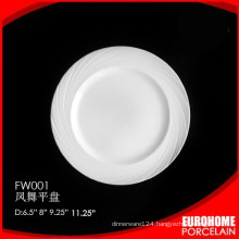 Pass FDA SGS CE glazed wholesale melamine dinner plates sets