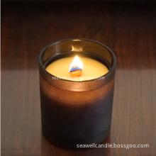 Soy Wax Wood Wick Black Jar Candle