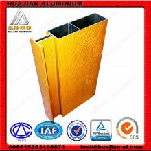 Revêtement en poudre de grain en bois Rideaux en aluminium