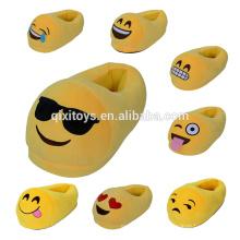 Vente chaude drôle Emoji chambre pantoufles en gros