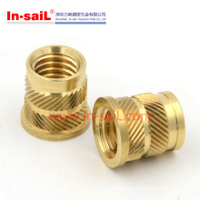 Qt-Type Double-Twilled Knurls Hot-Melt Brass Insert Nut for Thermoplastic