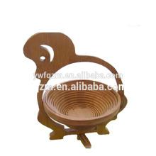 Proveedor barato de la cesta de fruta plegable de bambú