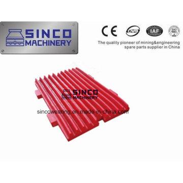 Pièces de rechange pour concasseur à mâchoires Plaque de mâchoire pour Metso Shanbao
