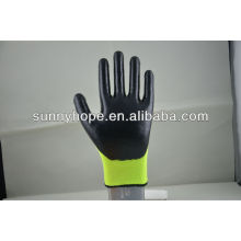 Hi-Viz nappyHi-Viz gants acryliques et en nylon recouverts de nitrile