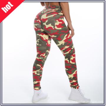 Wholesale Sxey Ladies Fitness Yoga Wear Camouflage Patterns Yoga Pants Leggings