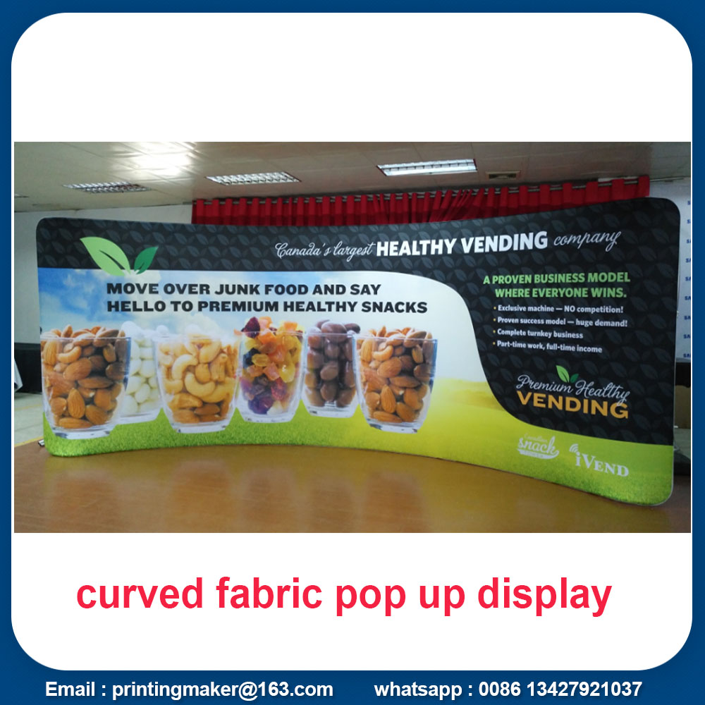 curved tension fabric displays
