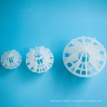 Boule creuse multi-facettes en plastique pour la tour de désulfuration
