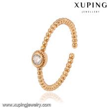 13797 xuping 18k oro moda plateada energía anillo nuevo diseño
