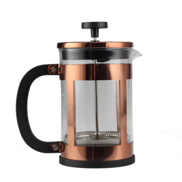 Kupferrahmen Glas French Press