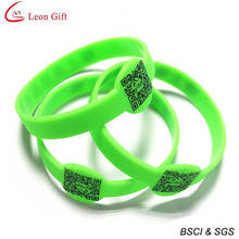 Hot Sale Qr Code Silicone Bracelet for Advertising (LM1630)