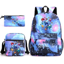 2PCS Sets High Quality Fashion Polyester Custom Pattern Designer Backpacks