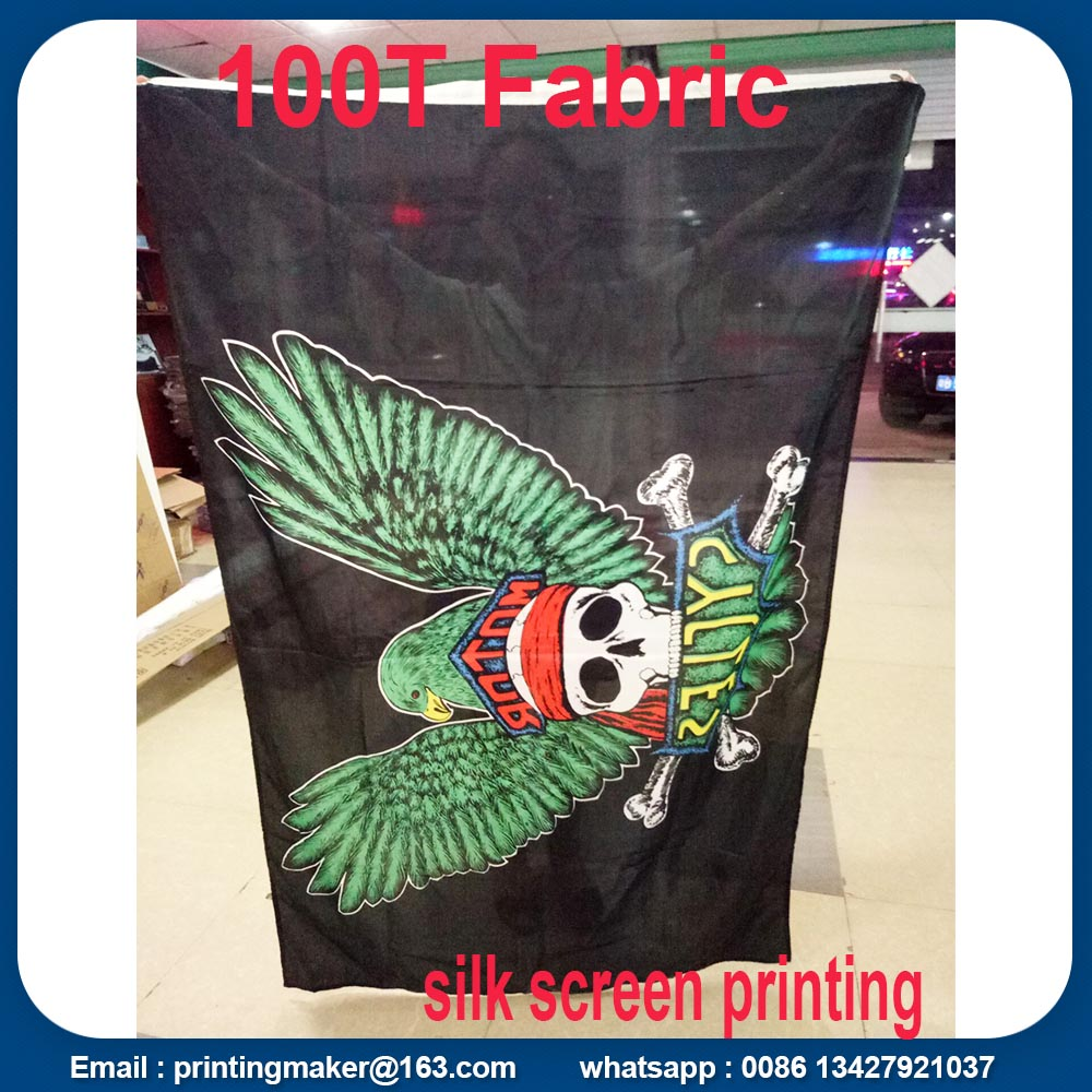 single side printing polyester flags