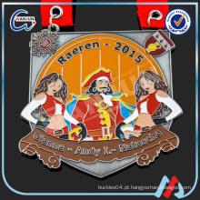 Medalha alemã do esmalte quente da venda com cordão