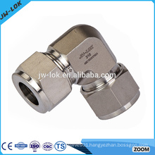 Precision instrument 90 degree stainless steel elbow