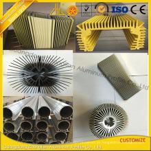 Dissipador de calor de alumínio da extrusão de Customzied da fábrica de alumínio com perfis de alumínio