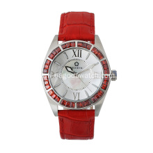Fashion stone stainless steel watch womens