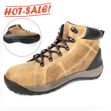 Wholesale Slip Resistant Nubuck Leather Toe Cap Safety Shoes Men's Boot Safety Shoes