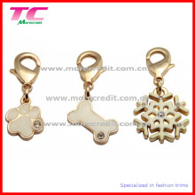 Encanto de oro de gama alta del metal / colgante / etiqueta