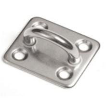 304 Placa quadrada do olho da almofada do aço inoxidável