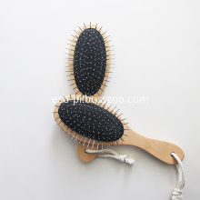 Bamboo Oval Paddle Boar Bristle Pet Brush
