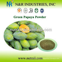 100% natural de papaya verde en polvo 60-200mesh