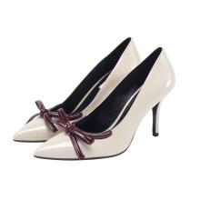 White High Heel Women Shoes Kitten Heel Lady Shoes