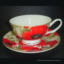 Porcelaine tasse et soucoupe (CY-B533)