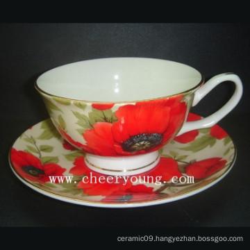 Bone China Cup and Saucer (CY-B533)