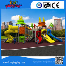 Kidsplayplay Kids Games Outdoor Playground with Plastic Slide for Sale