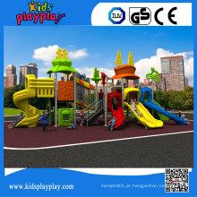Kidsplayplay Kids Games Playground ao ar livre com Slide de plástico para venda