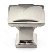 Botão quadrado tradicional em liga de zinco para ferragens do gabinete
