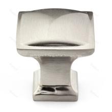 Bouton de quincaillerie d'armoire carrée traditionnelle en alliage de zinc