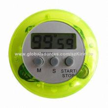 Fashion timer with ABS material, AG13 button battery, suitable for promotion