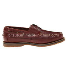 Men′s Classic Leather Lace up Boat Shoes