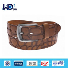 Mens leather crocodile belt