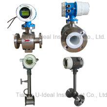 Gas or Steam Mass Vortex Flow Meter, Water Turbine Electromagnetic Flowmeter