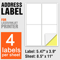 Adhesive labels a4 sticker sheet for inkjet printer